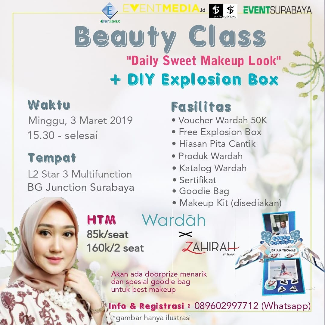 """Beauty Class and DIY Explosion Box"" with Wardah Beauty"