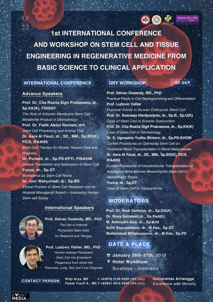 International Conference and Workshop on Stem Cell and Tissue Engineering in Regenerative Medicine from Basic Science to Clinical Application