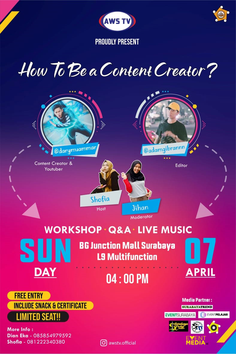 """HOW TO BE A CONTENT CREATOR"" dengan tema ""PENIKMAT ERA DIGITAL"" image 1"