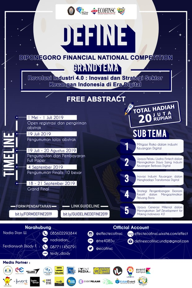 DEFINE (DIPONEGORO FINANCIAL NATIONAL COMPETITION) 2019 image 1
