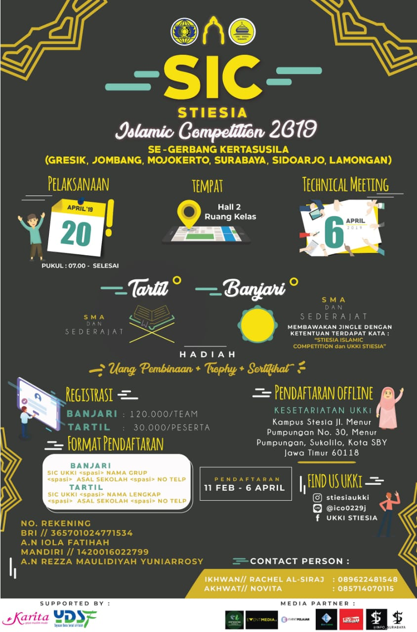 SIC (Stiesia Islamic Competition) 2019 image 1