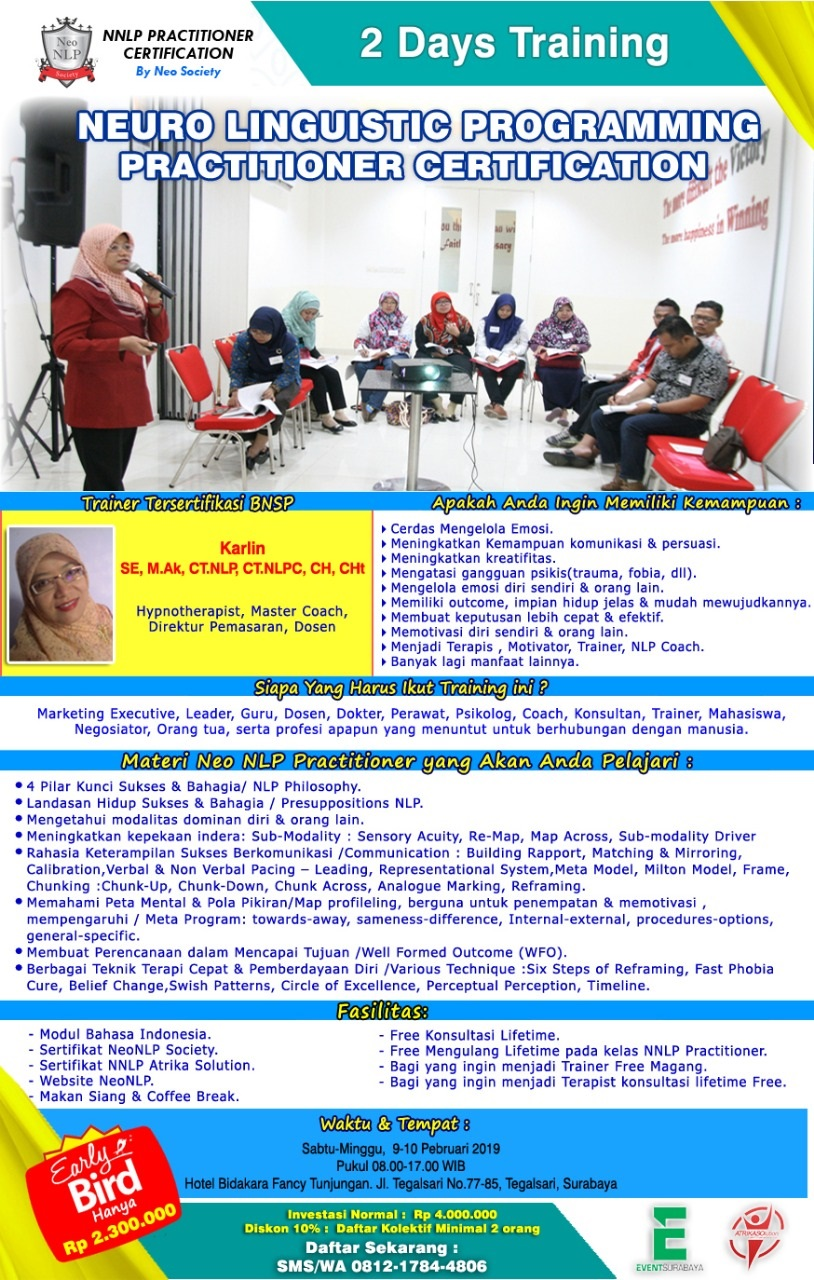 NEURO LINGUISTIC PROGRAMMING PRACTITIONER CERTIFICATION By Neo Society image 1