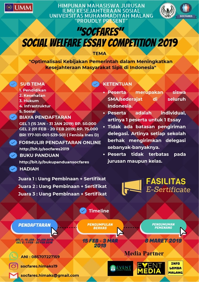 SOCFARES (Social Welfare Essay) COMPETITION 2019