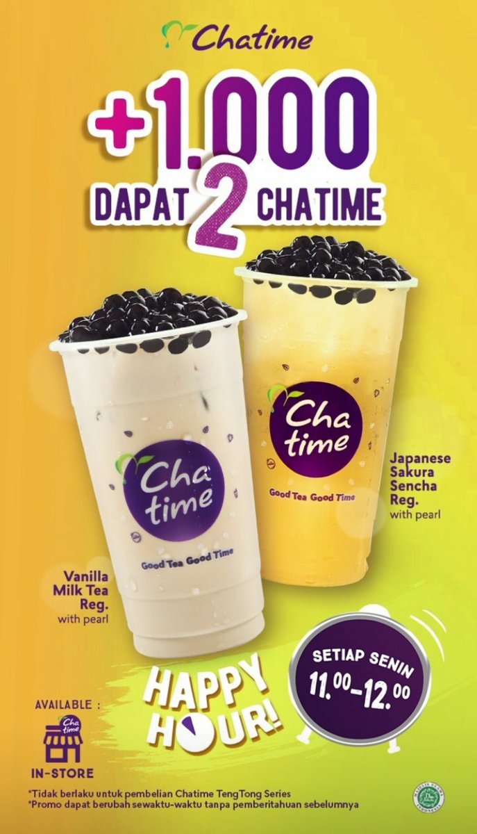CHATIME | HAPPY HOUR!  image 1