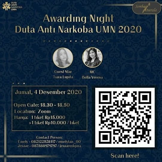 Awarding Night Duta Anti Narkoba UMN 2020